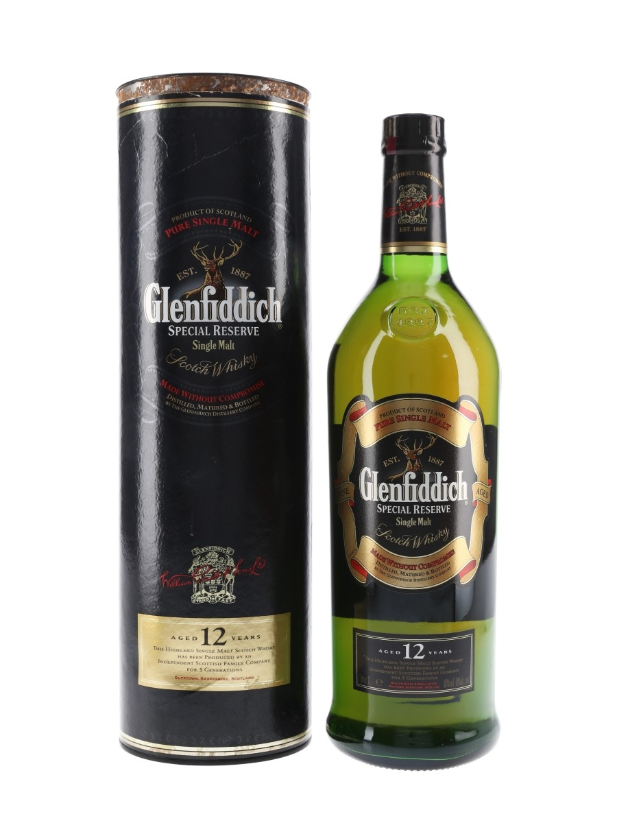 Glenfiddich 12 Year Old Special Reserve Old Presentation 100cl / 40%