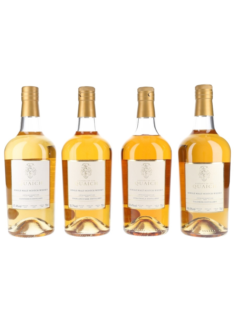 The Keepers Of The Quaich Autumn Banquets 2016-2019 Glenfiddich, Highland Park, Strathisla & Talisker 4 x 70cl