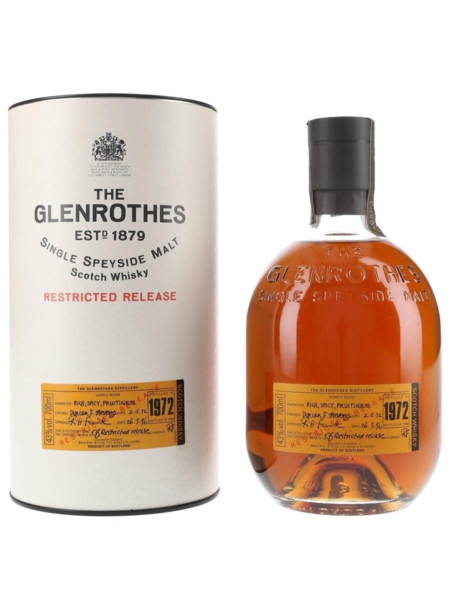 Glenrothes 1972 Restricted Release Bottled 1996 70cl / 43%