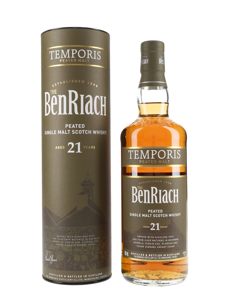 Benriach 21 Year Old Temporis Bottled 2018 - Peated Malt 70cl / 46%