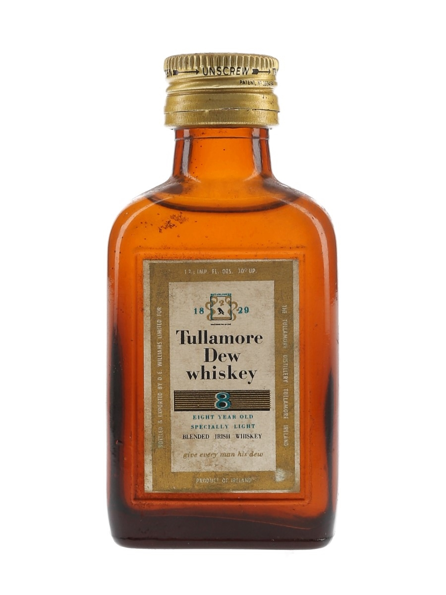 Tullamore Dew 8 Year Old Bottled 1950s-1960s 4.7cl / 40%