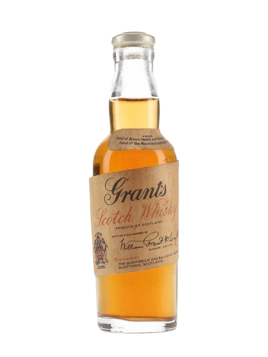 Grant's Bottled 1940s-1950s 5cl