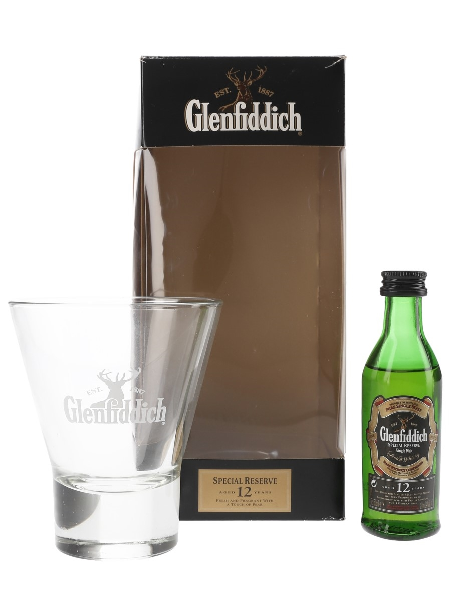 Glenfiddich Single Malt & Whisky Tumbler Gift Pack 12 Year Old Special Reserve 5cl / 40%