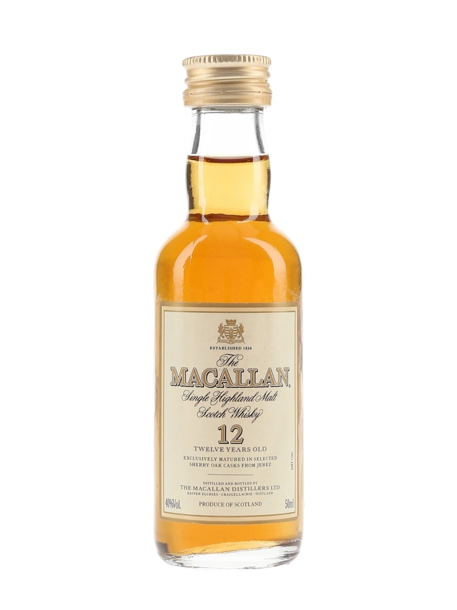 Macallan 12 Year Old Bottled 1990s-2000s 5cl / 40%