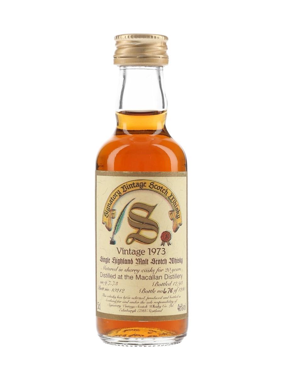 Macallan 1973 20 Year Old Bottled 1993 - Signatory Vintage 5cl / 46%