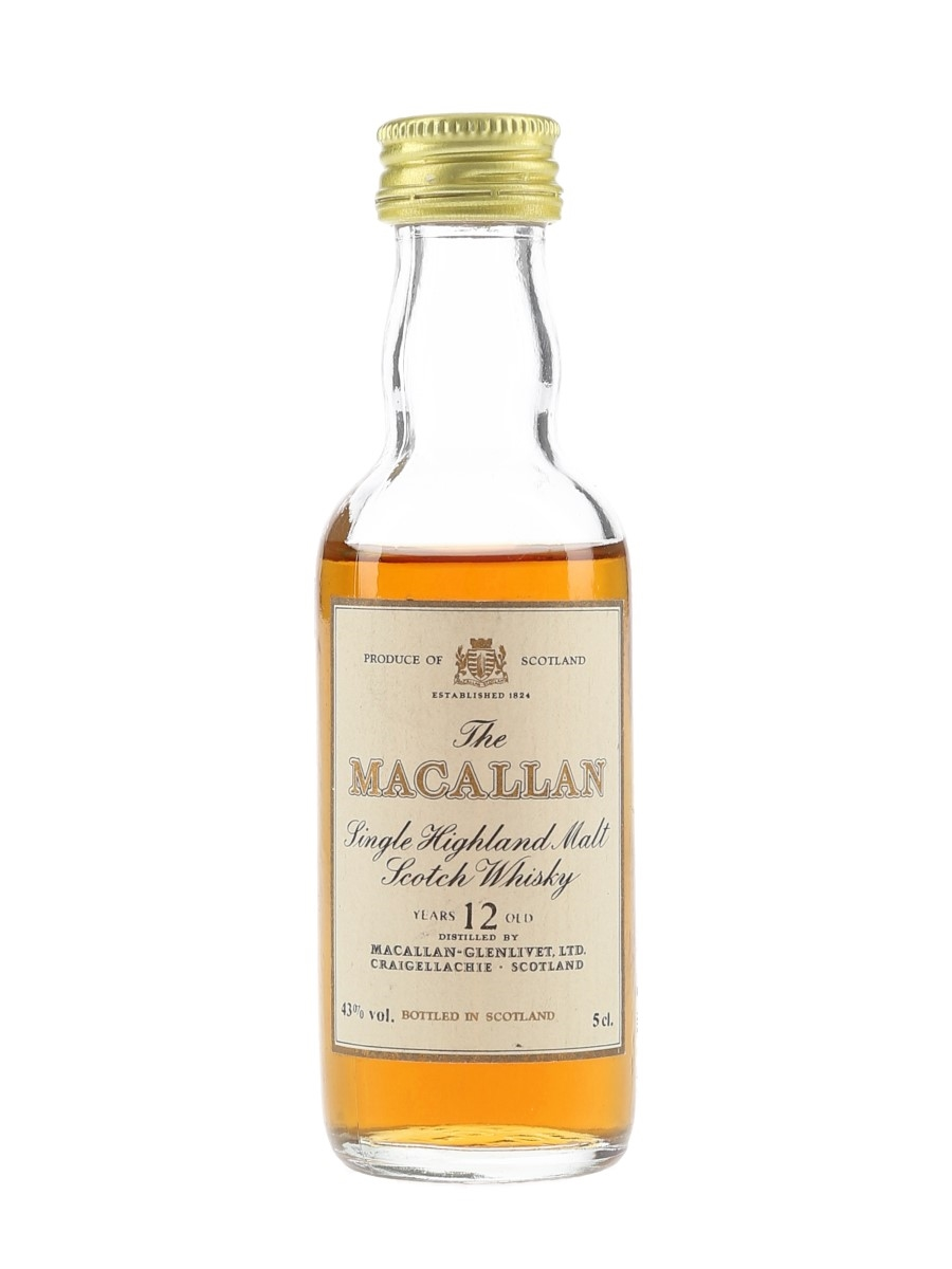 Macallan 12 Year Old Bottled 1980s 5cl / 43%