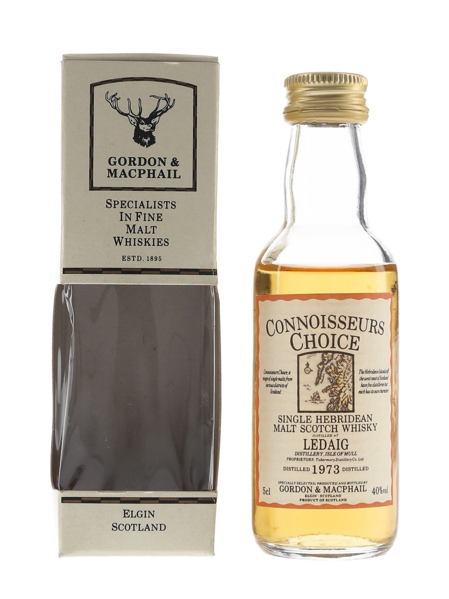 Ledaig 1973 Connoisseurs Choice Bottled 1980s - Gordon & MacPhail 5cl / 40%