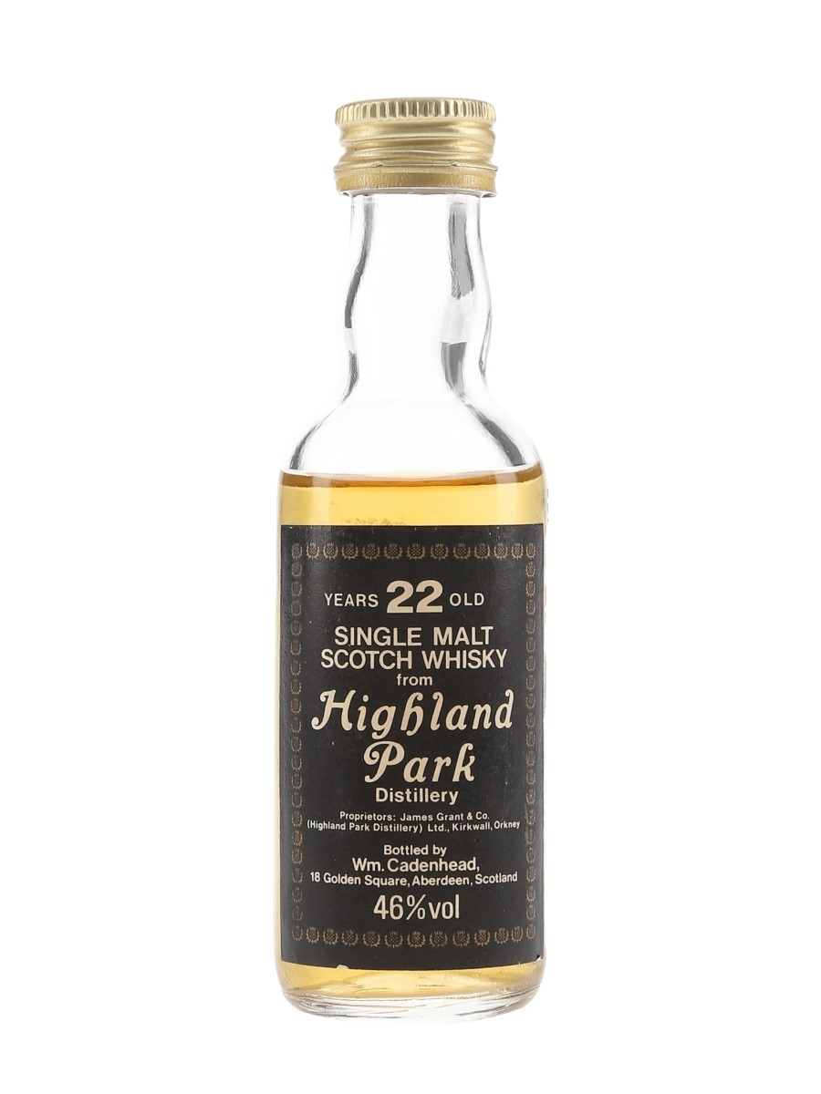 Highland Park 22 Year Old Bottled 1980s - Cadenhead 5cl / 46%