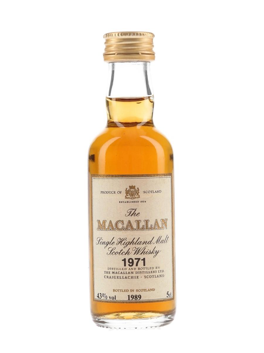 Macallan 1971 Bottled 1989 5cl / 43%