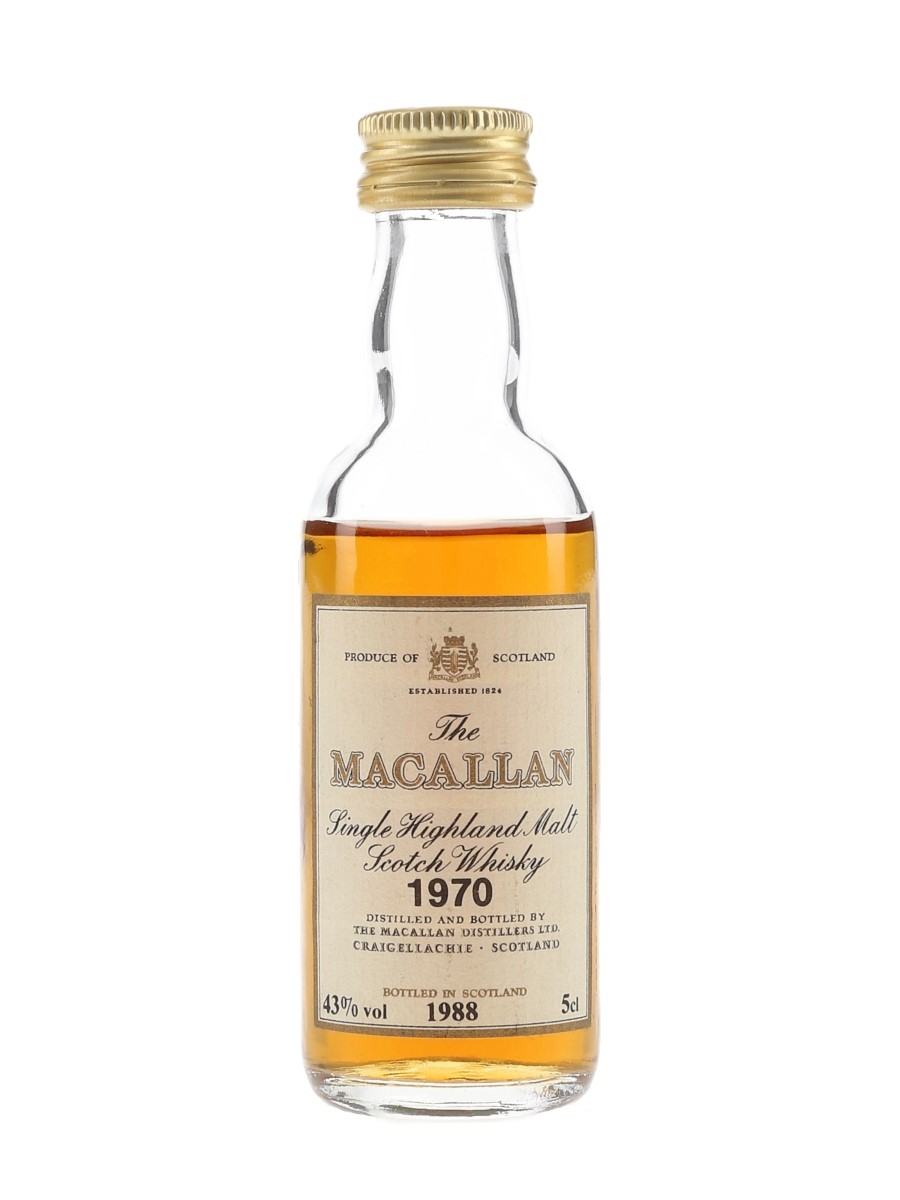 Macallan 1970 Bottled 1988 5cl / 43%