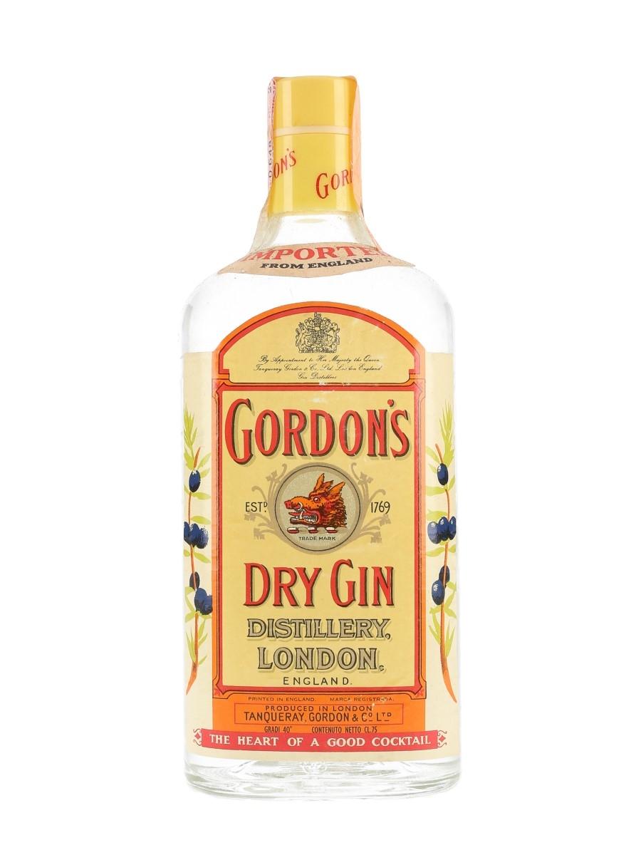 Gordon's Dry Gin Bottled 1970s - Wax & Vitale 75cl / 40%