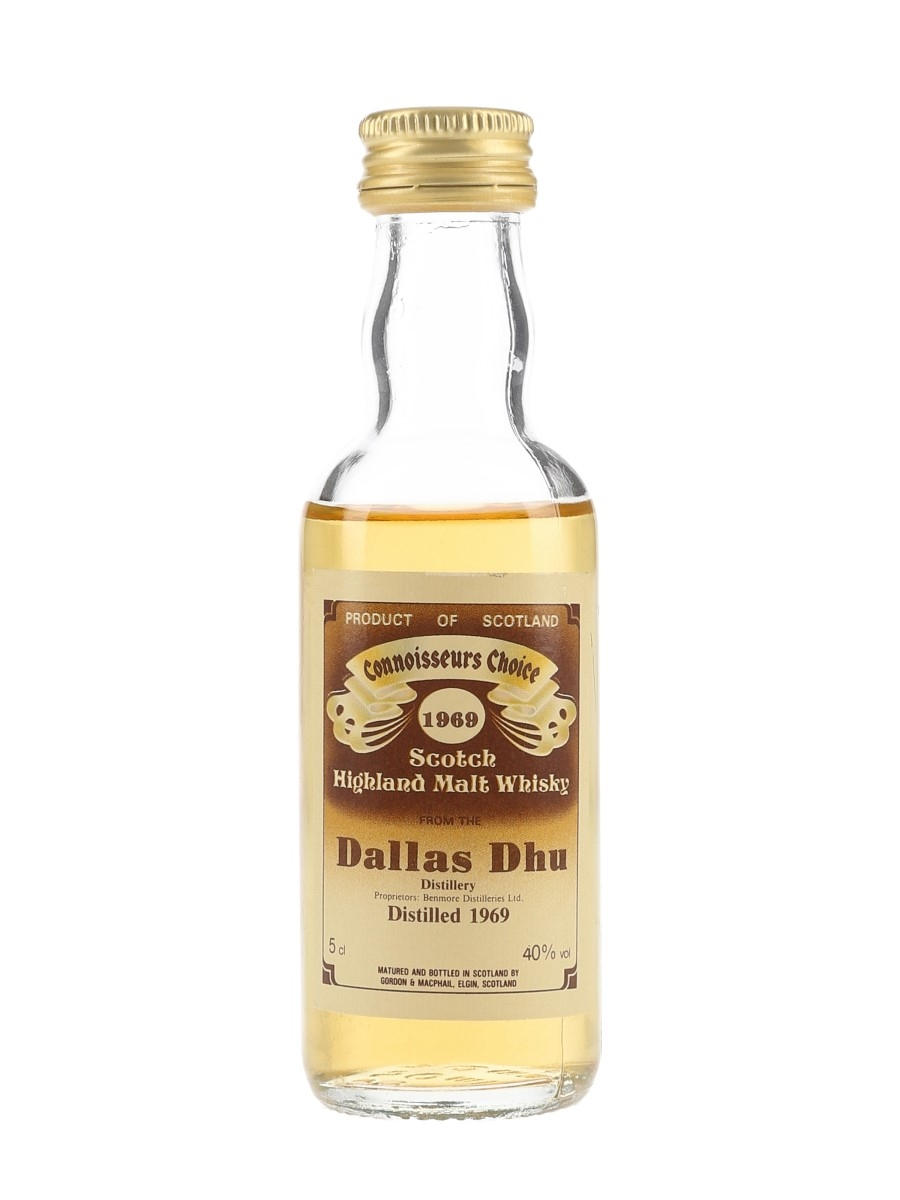 Dallas Dhu 1969 Connoisseurs Choice Bottled 1980s - Gordon & MacPhail 5cl / 40%