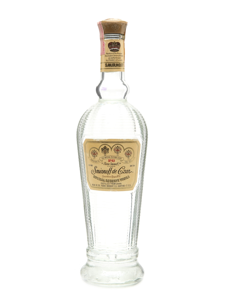 Smirnoff De Czar No.63 Bottled 1980s 75cl