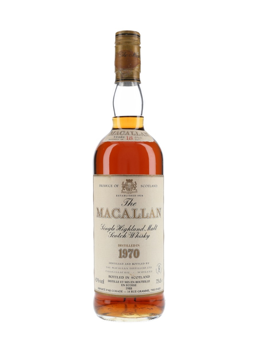Macallan 1970 18 Year Old Bottled 1988 - Corade 75cl / 43%