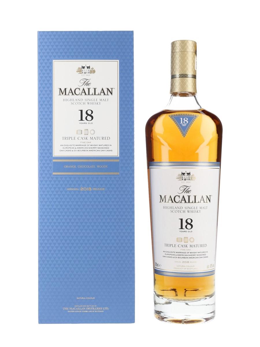Macallan 18 Year Old Fine Oak Annual 2018 Release - Triple Cask Matured 70cl / 43%