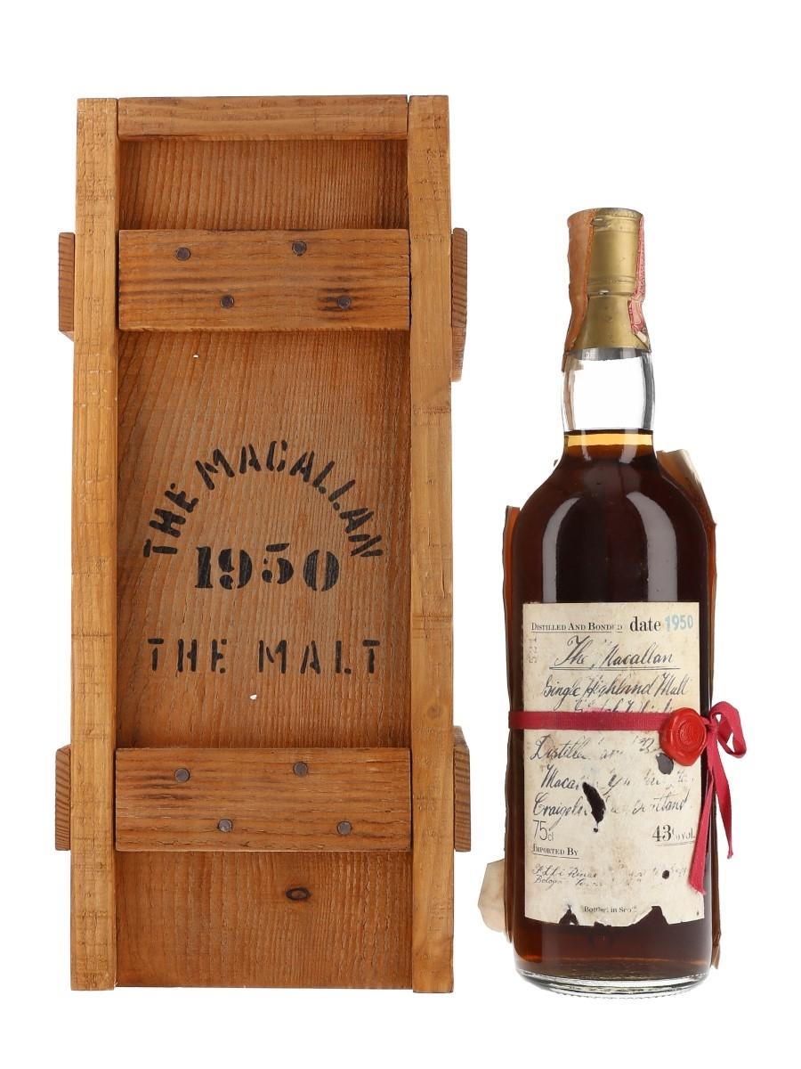 Macallan 1950 Handwritten Label Bottled 1981 - Rinaldi 75cl / 43%