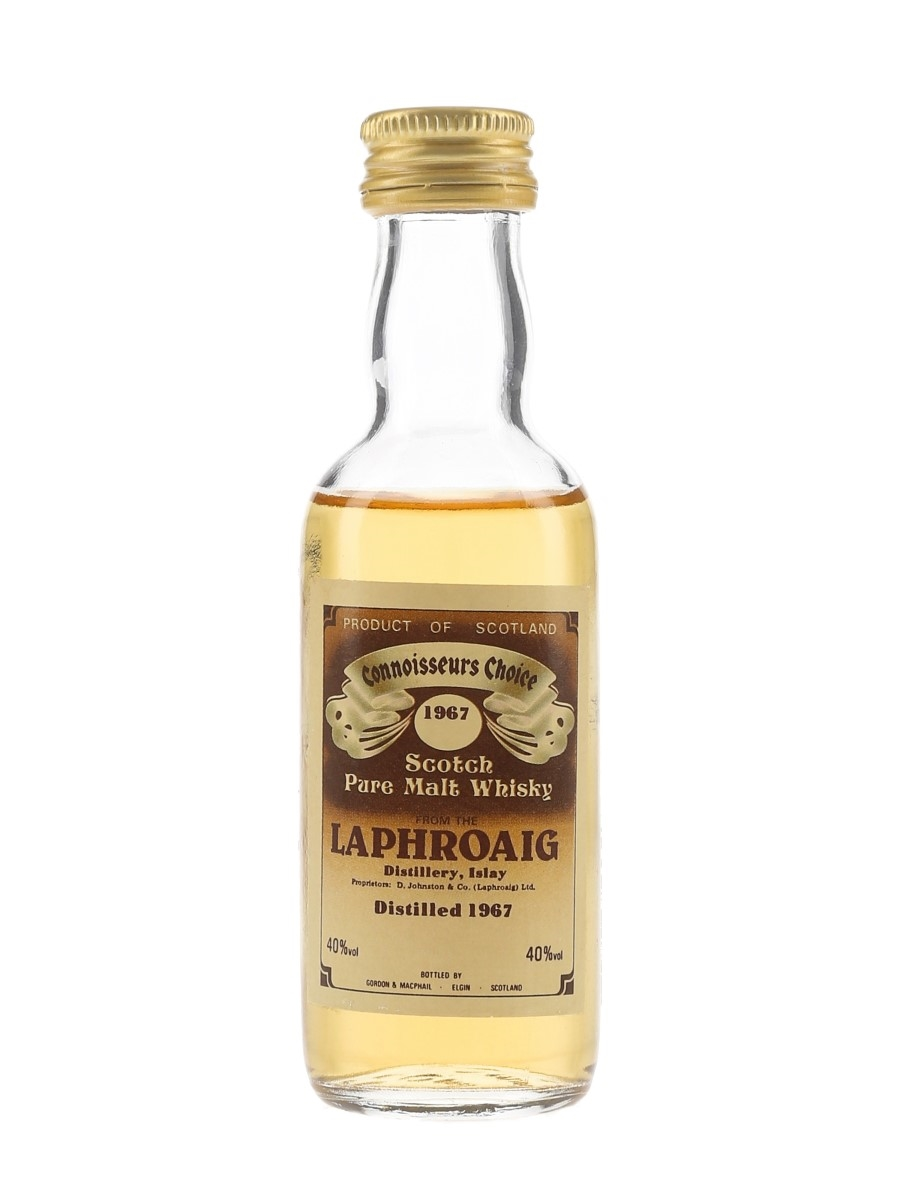 Laphroaig 1967 Connoisseurs Choice Bottled 1980s - Gordon & MacPhail 5cl / 40%