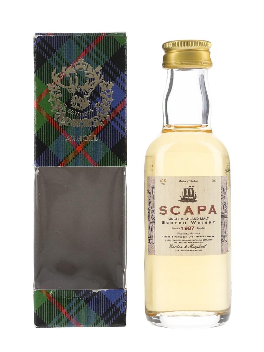 Scapa 1987 Bottled 1998 - Gordon & MacPhail 5cl / 40%