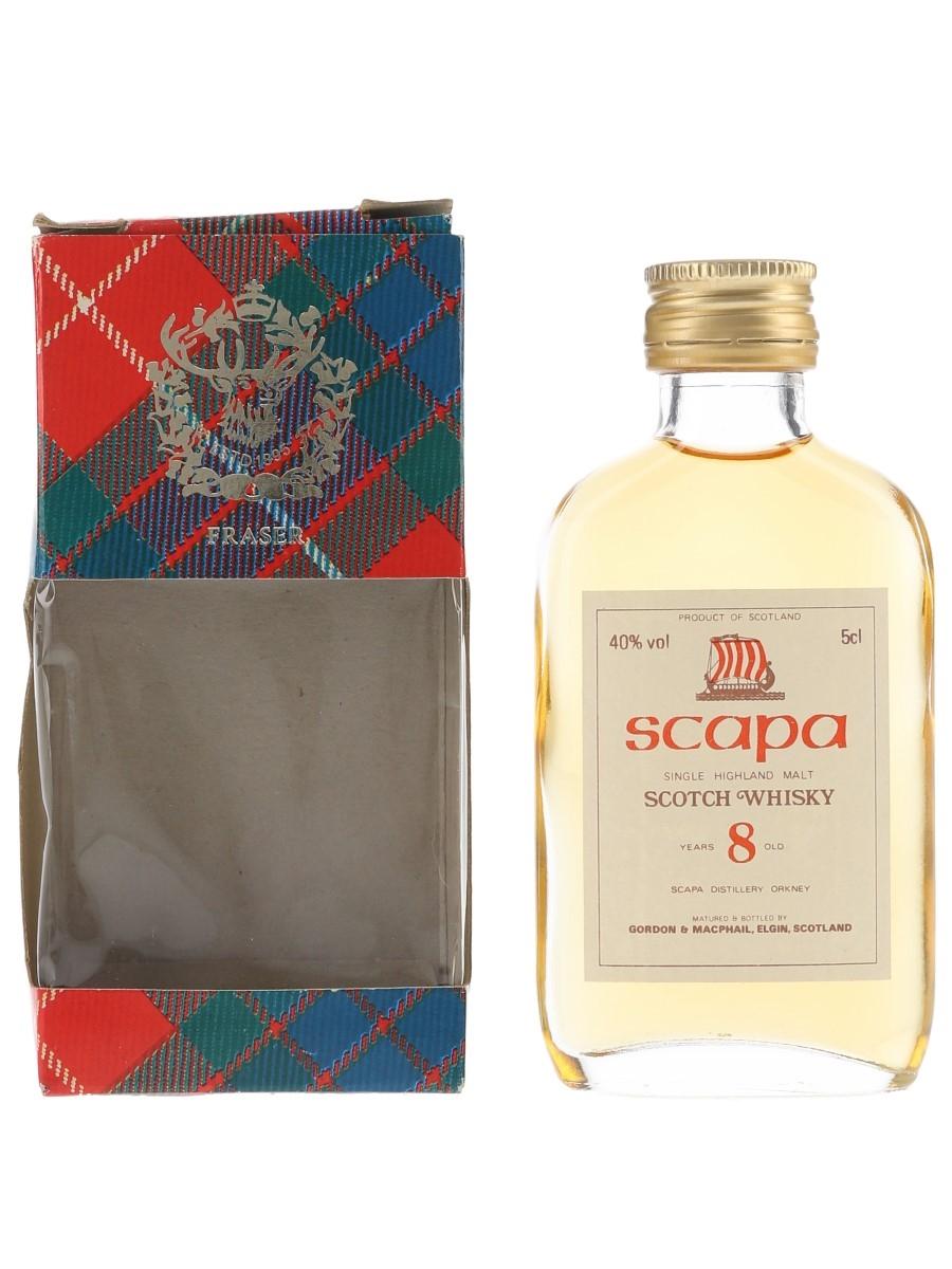 Scapa 8 Year Old Bottled 1980s - Gordon & MacPhail 5cl / 40%