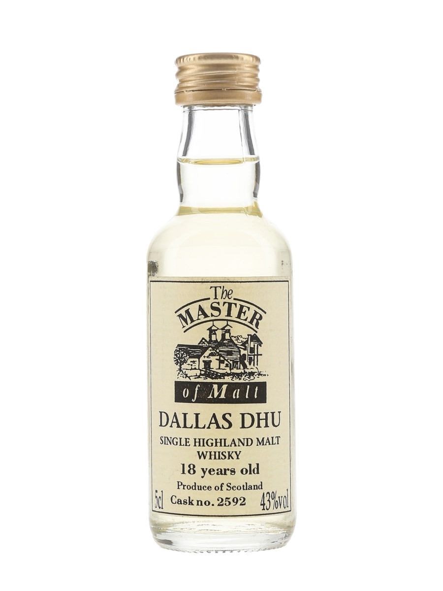 Dallas Dhu 18 Year Old Cask No.2592 The Master Of Malt 5cl / 43%