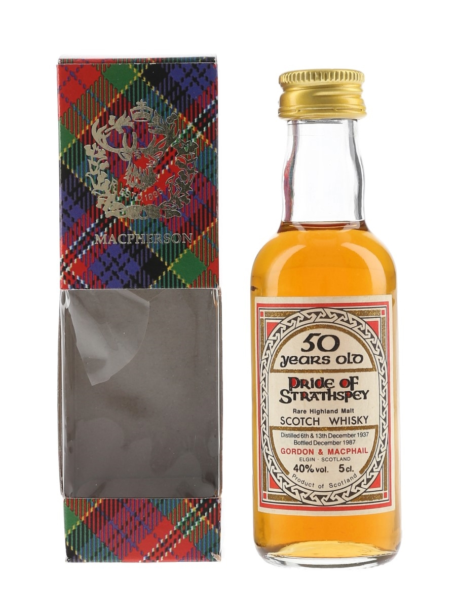 Pride Of Strathspey 1937 50 Year Old Bottled 1987 - Gordon & MacPhail 5cl / 40%