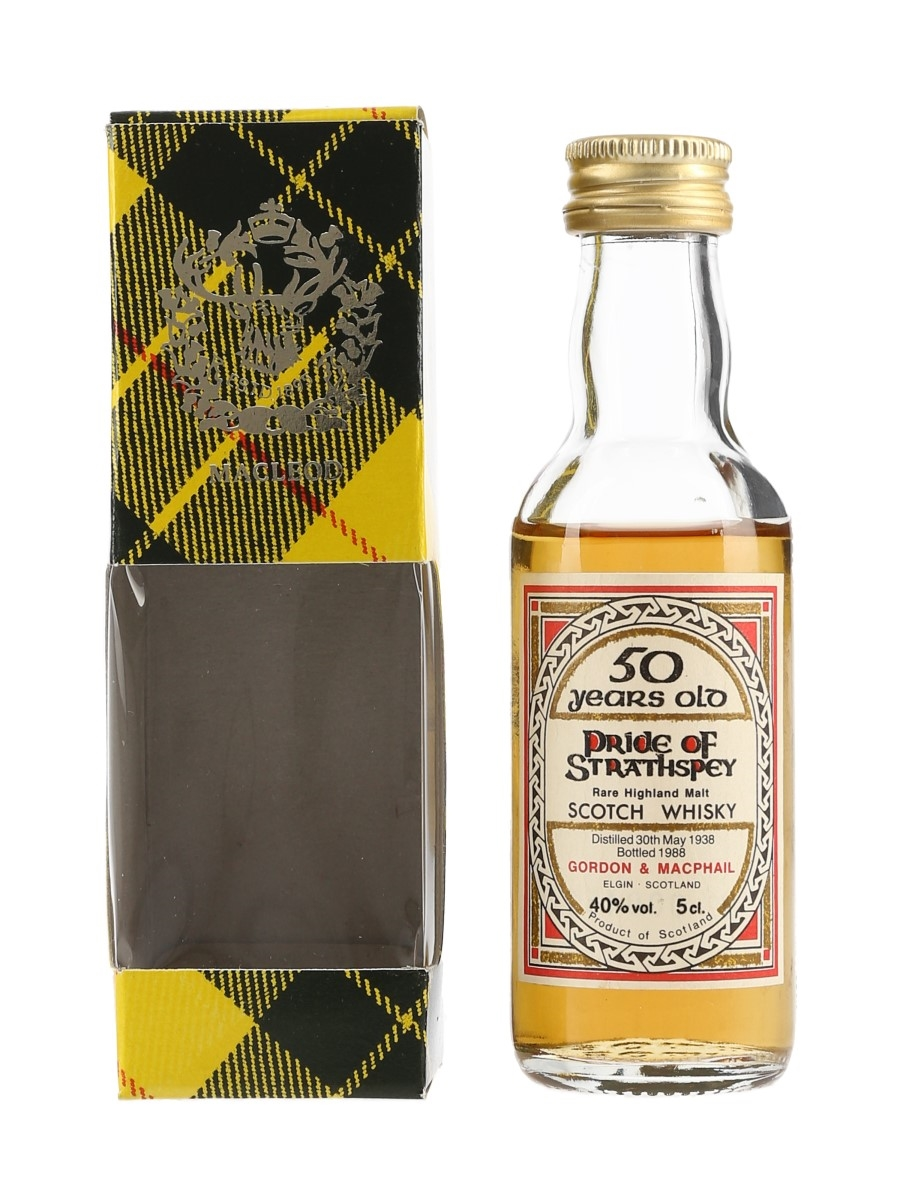 Pride Of Strathspey 1938 50 Year Old Bottled 1988 - Gordon & MacPhail 5cl / 40%
