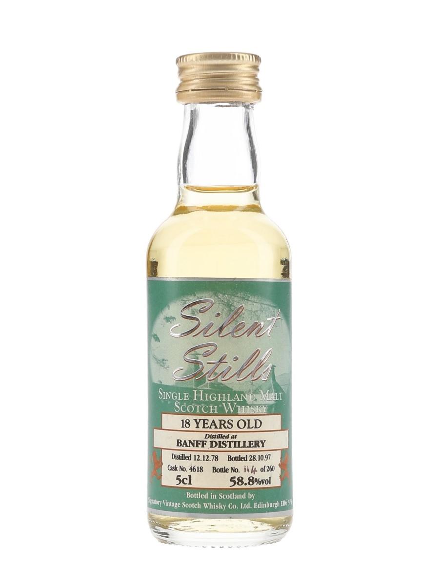 Banff 1978 18 Year Old Silent Stills Cask 4618 Bottled 1997 - Signatory Vintage 5cl / 58.8%