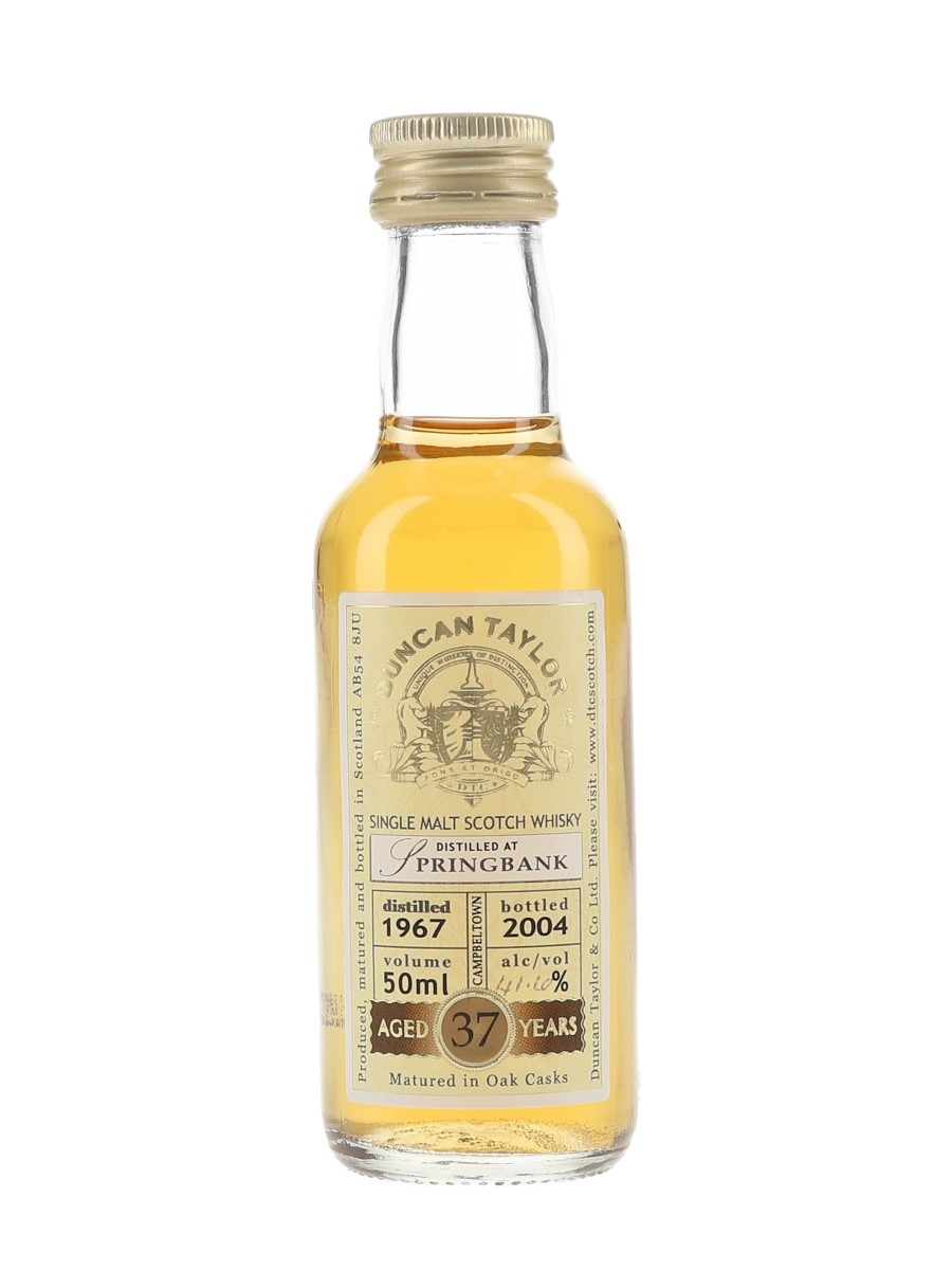 Springbank 1967 37 Year Old Bottled 2004 - Duncan Taylor 5cl / 41.6%