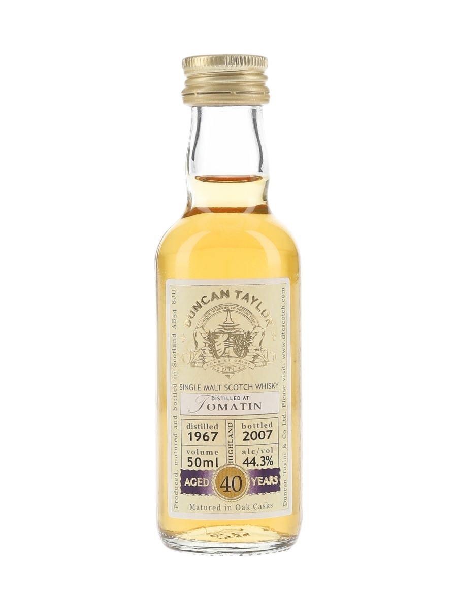 Tomatin 1967 40 Year Old Bottled 2007 - Duncan Taylor 5cl / 44.3%