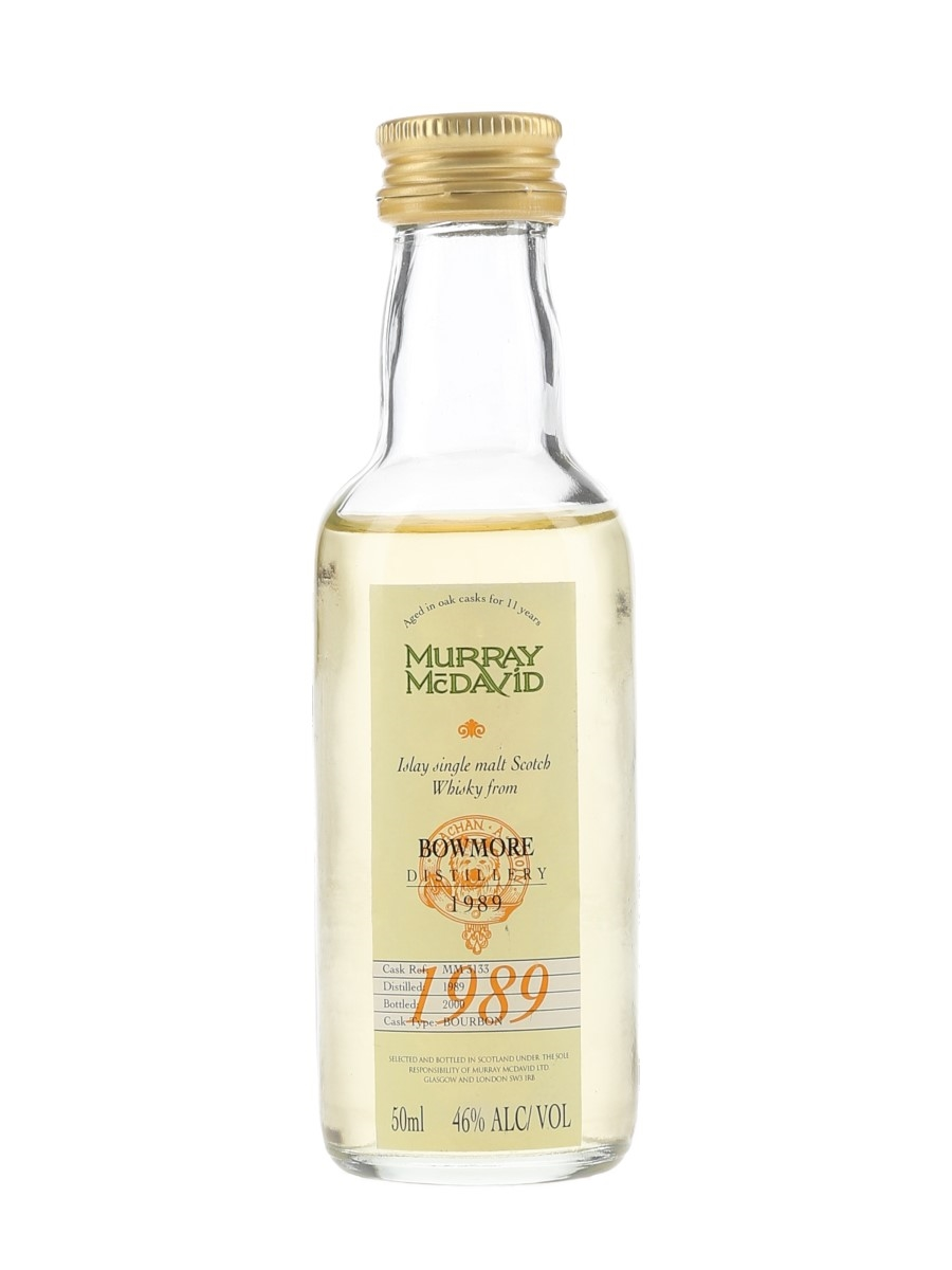 Bowmore 1989 11 Year Old Bottled 2000 - Murray McDavid 5cl / 46%
