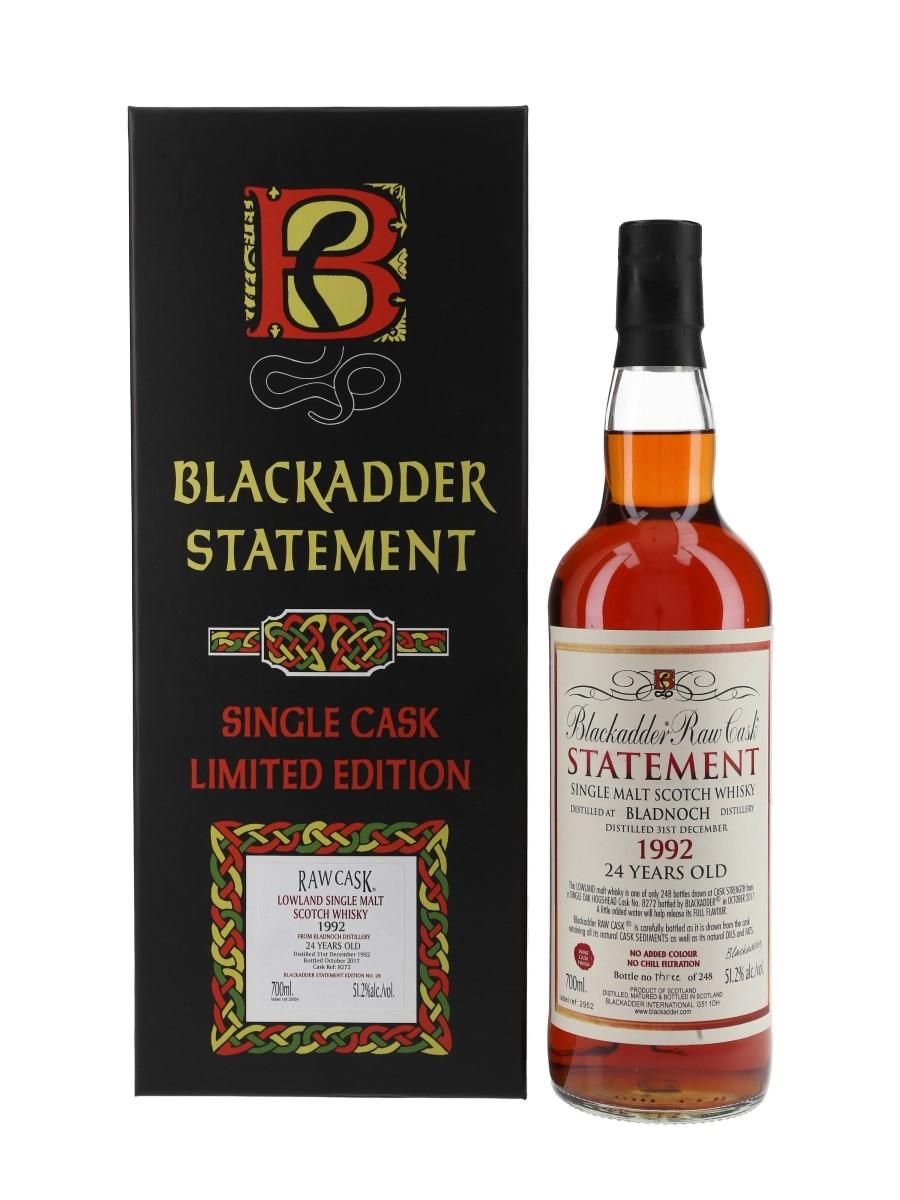 Bladnoch 1992 24 Year Old Cask 8272 Bottled 2017 - Blackadder Statement 70cl / 51.2%