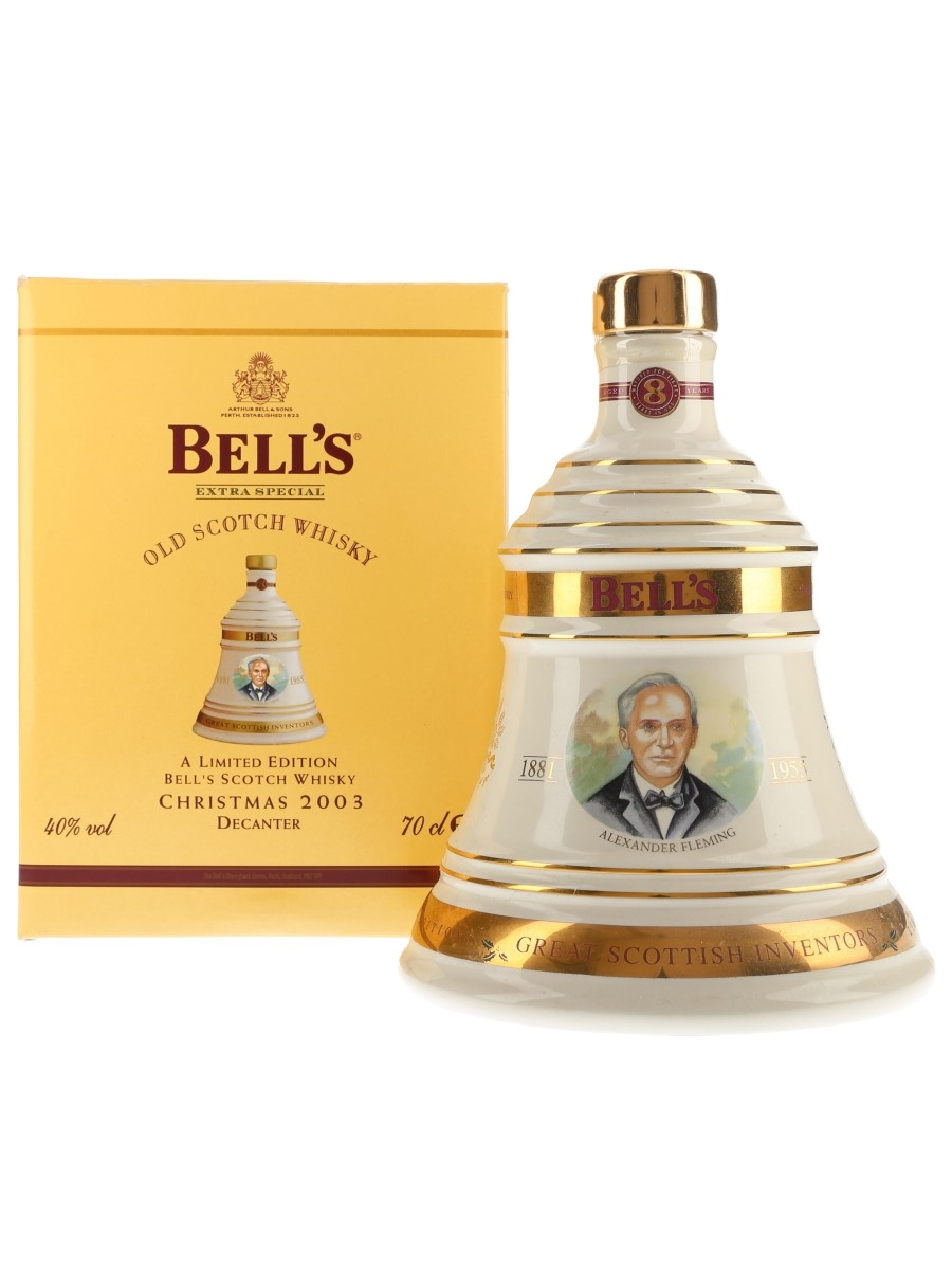Bell's Christmas 2003 Ceramic Decanter Alexander Fleming 70cl / 40%