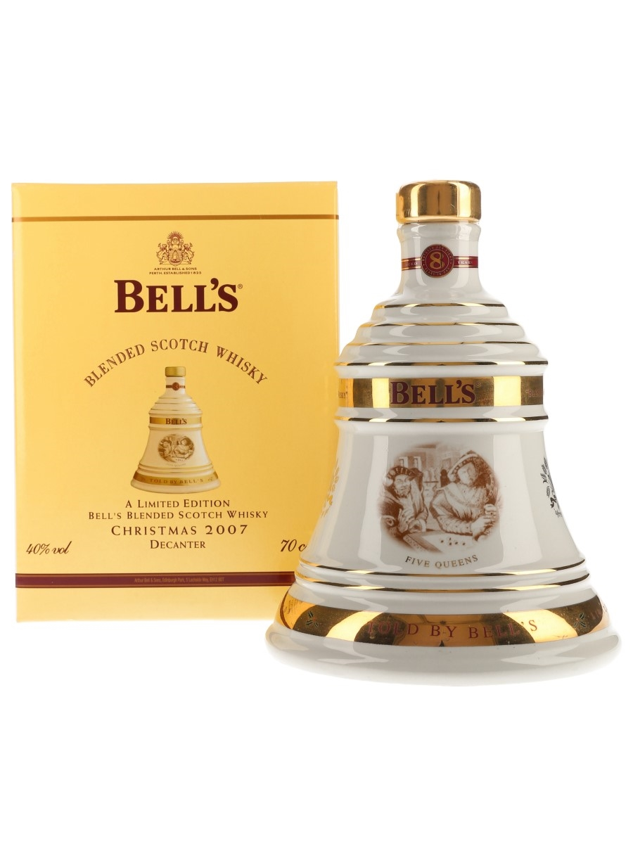 Bell's Christmas 2007 Ceramic Decanter Five Queens 70cl / 40%