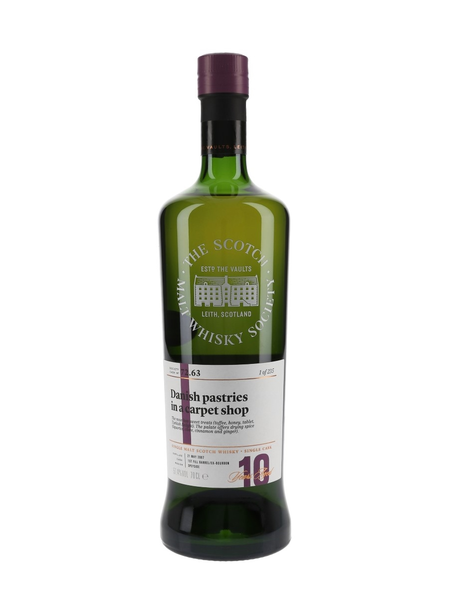 SMWS 72.63 Danish Pastries In A Carpet Shop Miltonduff 10 Year Old 70cl / 57.4%