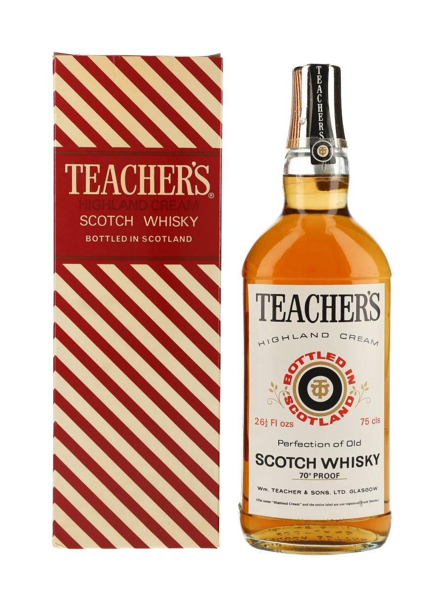 Teacher's Highland Cream Bottled 1970s-1980s 75cl / 40%