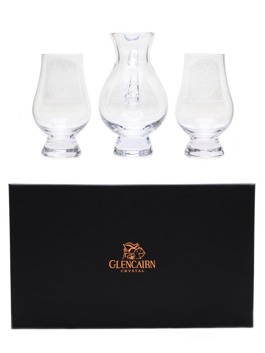 The Keepers Of The Quaich Water Jug & Glasses Glencairn Crystal