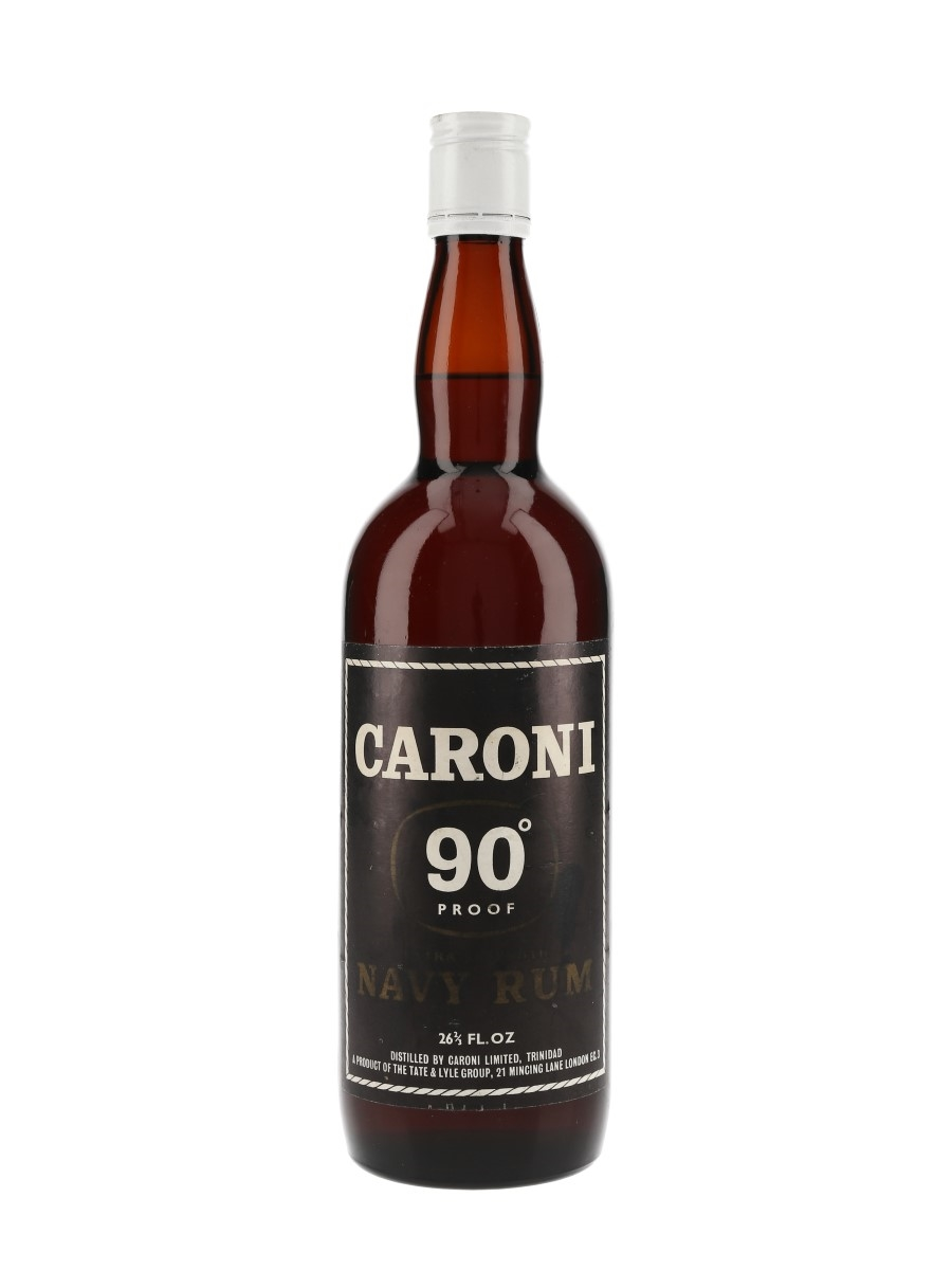 Caroni 90 Proof Extra Strength Navy Rum Bottled 1960s-1970s 75.7cl / 51.4%
