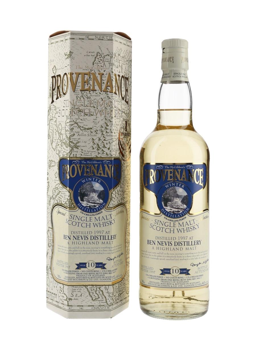 Ben Nevis 1997 10 Year Old Provenance Bottled 2007 - Douglas McGibbon's 70cl / 46%
