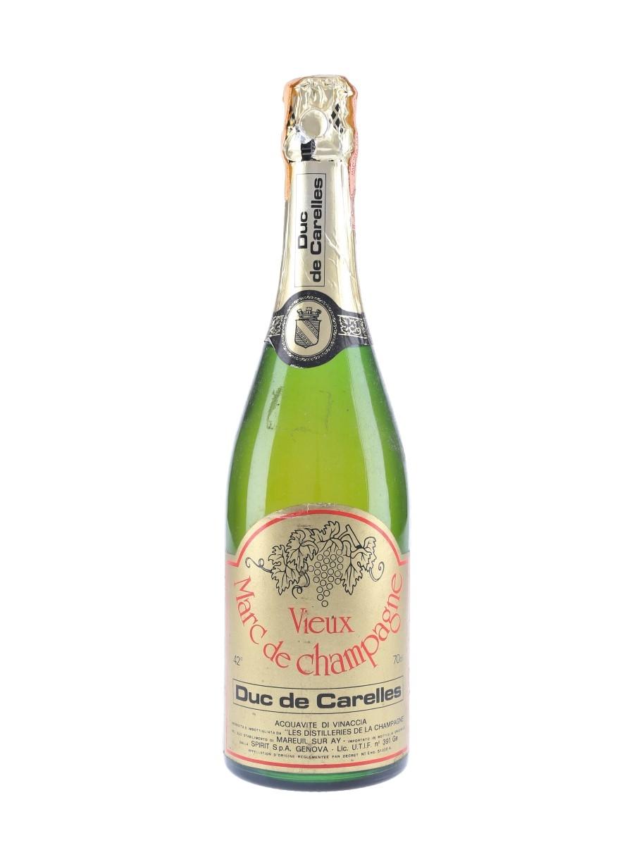 Duc De Carelles Vieux Marc De Champagne Bottled 1980s-1990s 70cl / 42%
