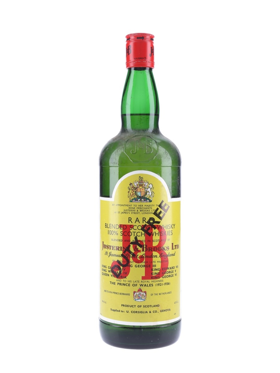 J & B Rare Bottled 1970s - Duty Free 94.6cl / 43%