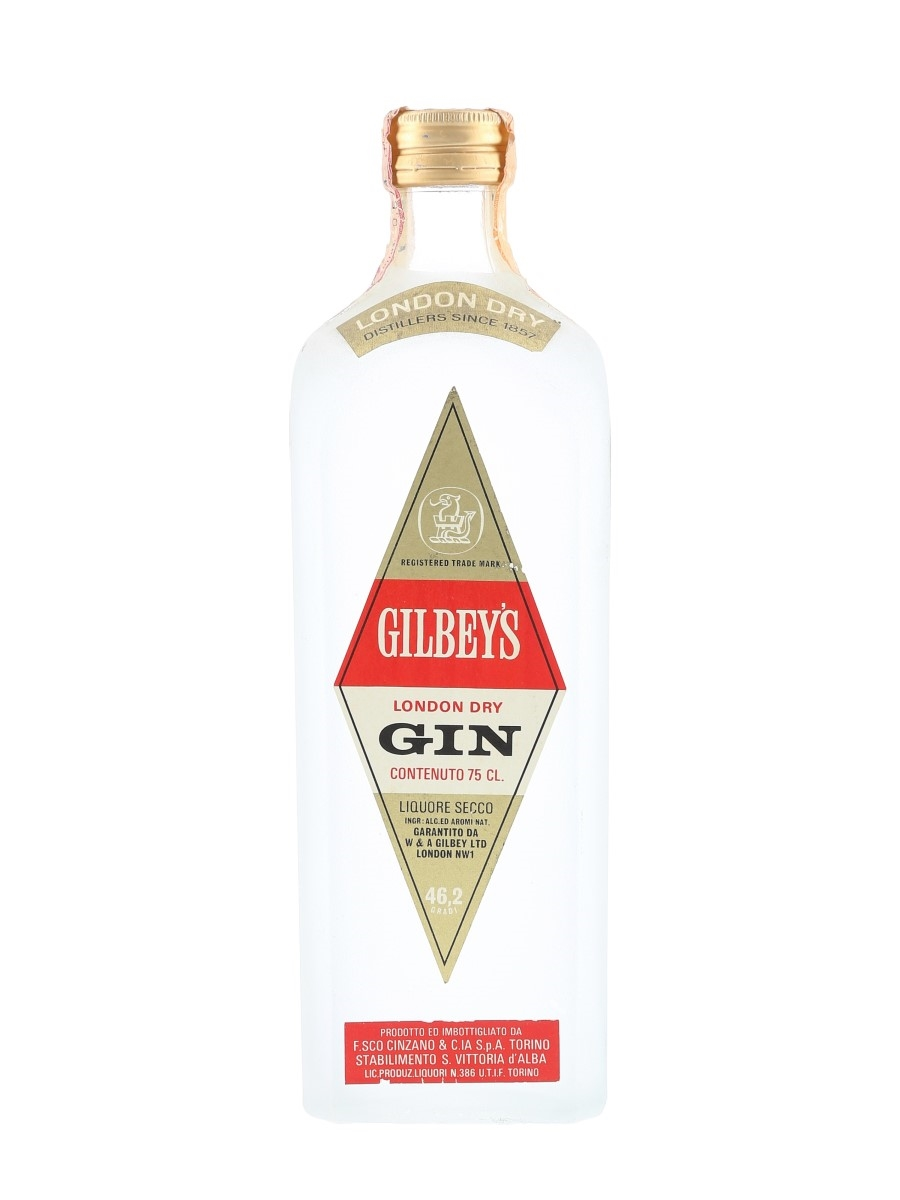 Gilbey's London Dry Gin Bottled 1960s-1970s - Cinzano 75cl / 46.2%