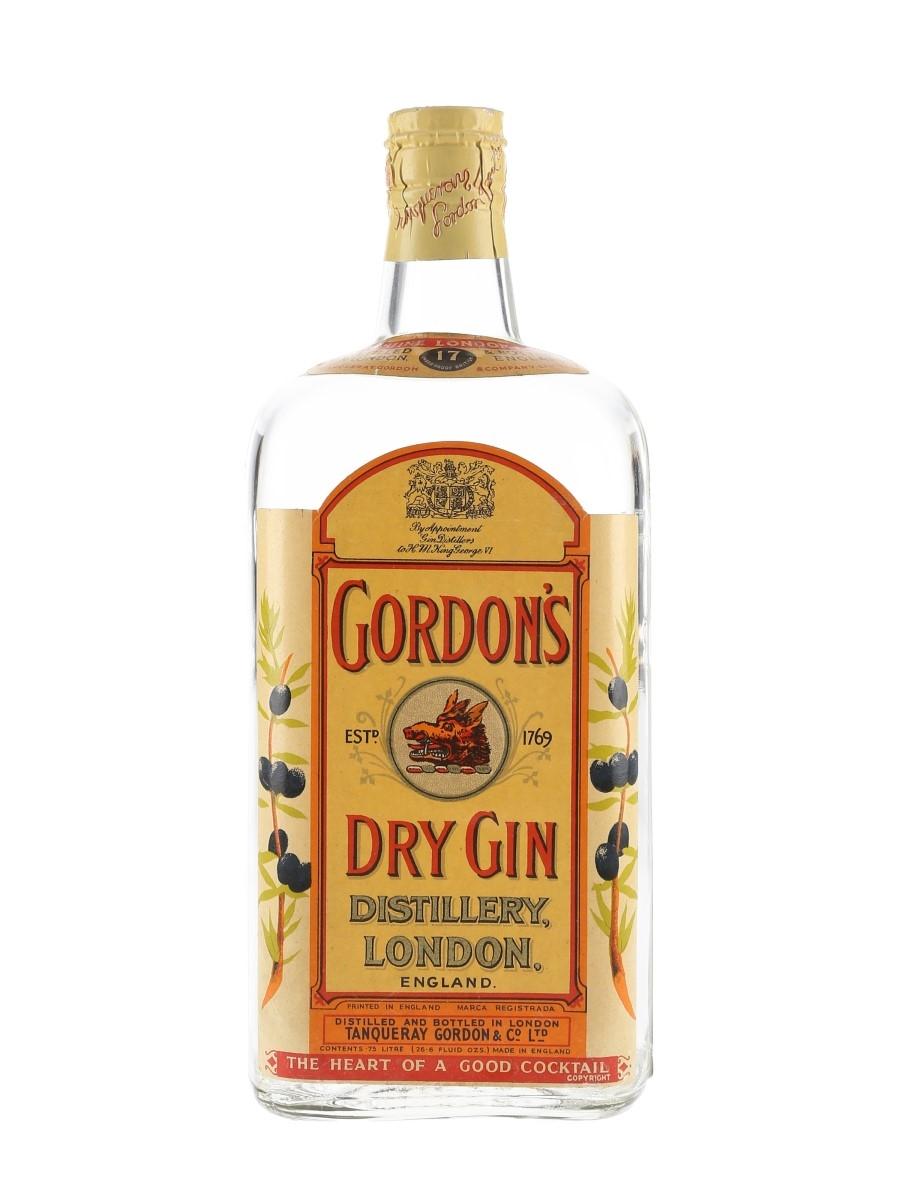 Gordon's Dry Gin Spring Cap Bottled 1950s 75cl / 47.4%