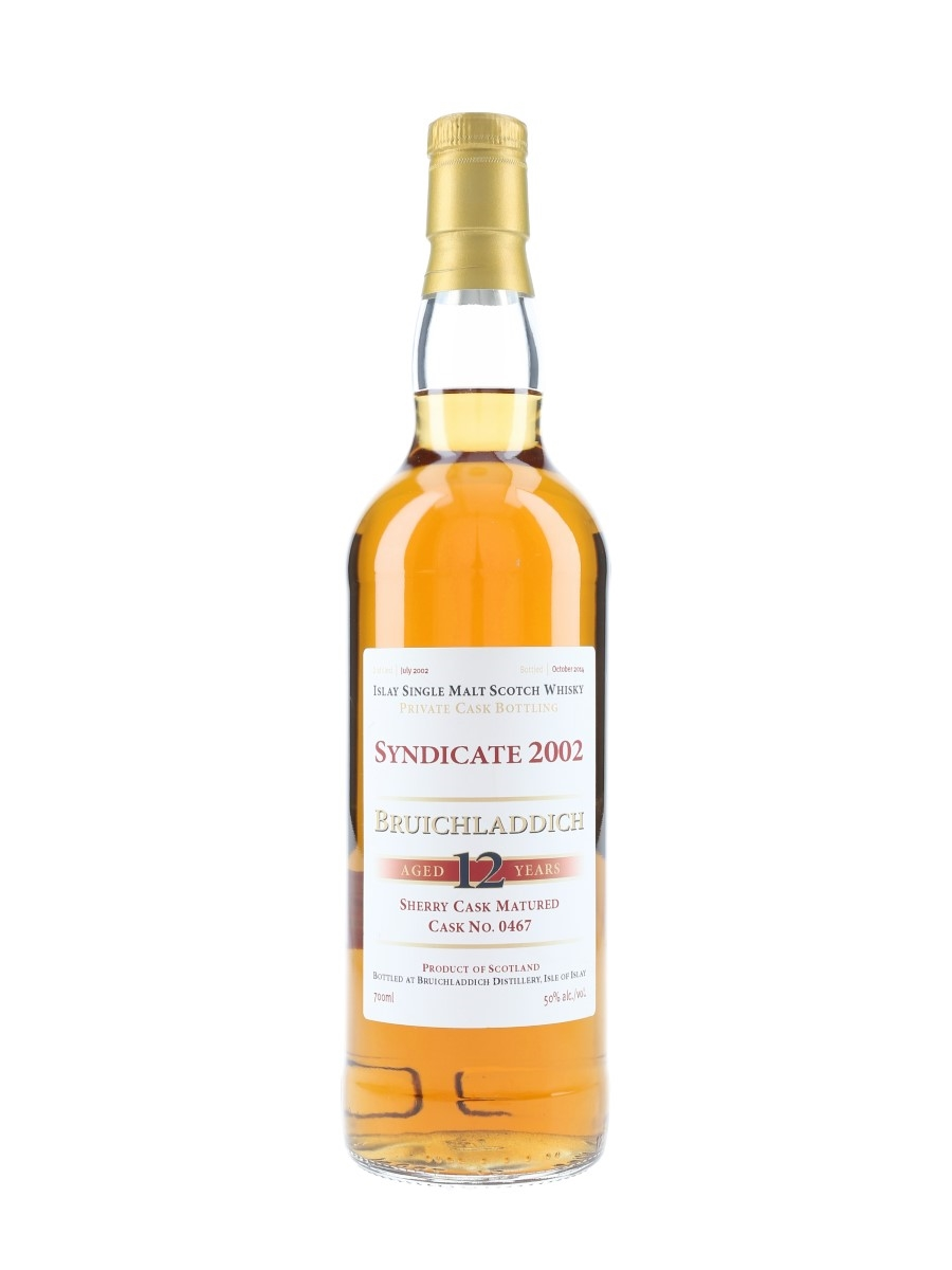 Bruichladdich 2002 12 Year Old Syndicate Cask 0467 Bottled 2014 - Private Cask Bottling 70cl / 50%