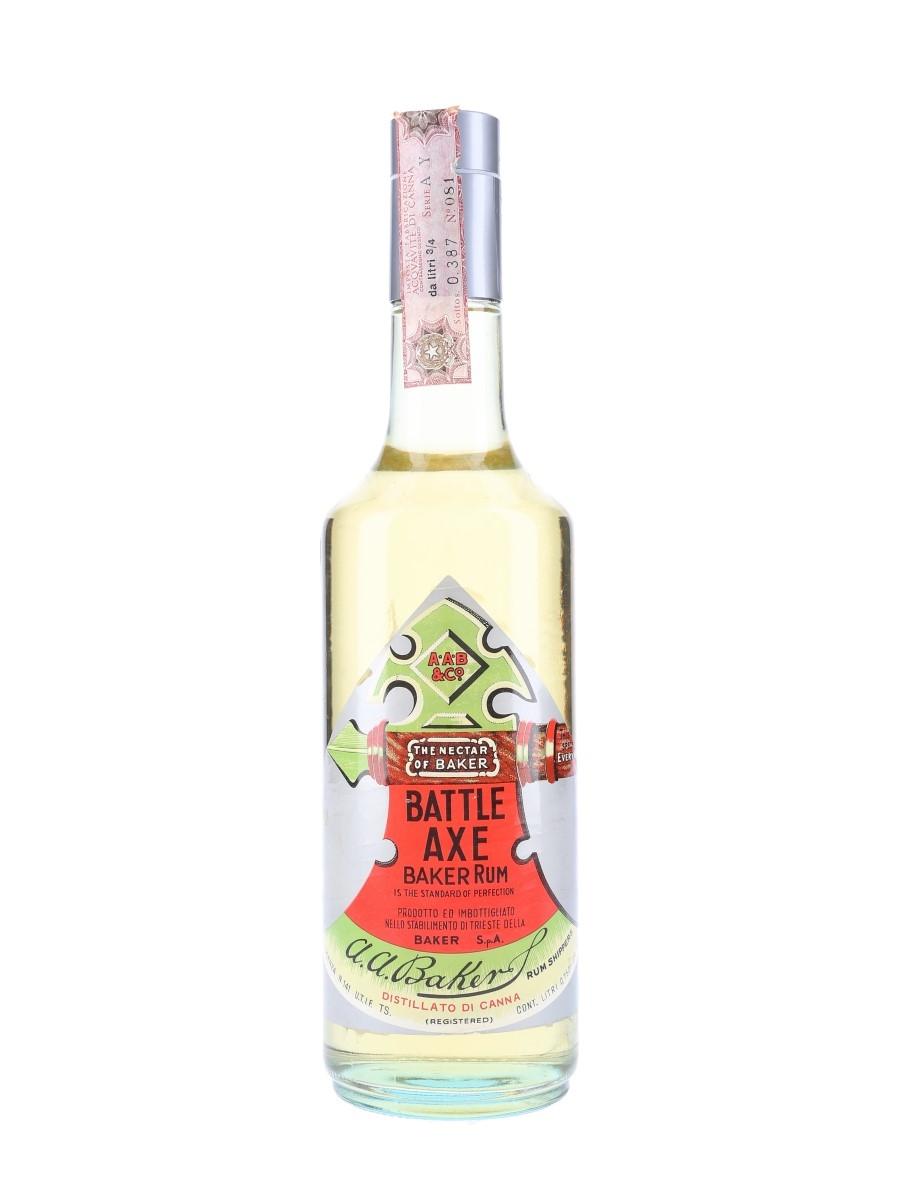 Baker Battle Axe Rum Bottled 1970s 75cl / 50%