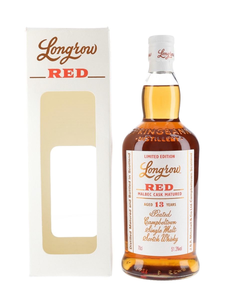 Longrow Red 13 Year Old Malbec Cask Matured Bottled 2017 70cl / 51.3%