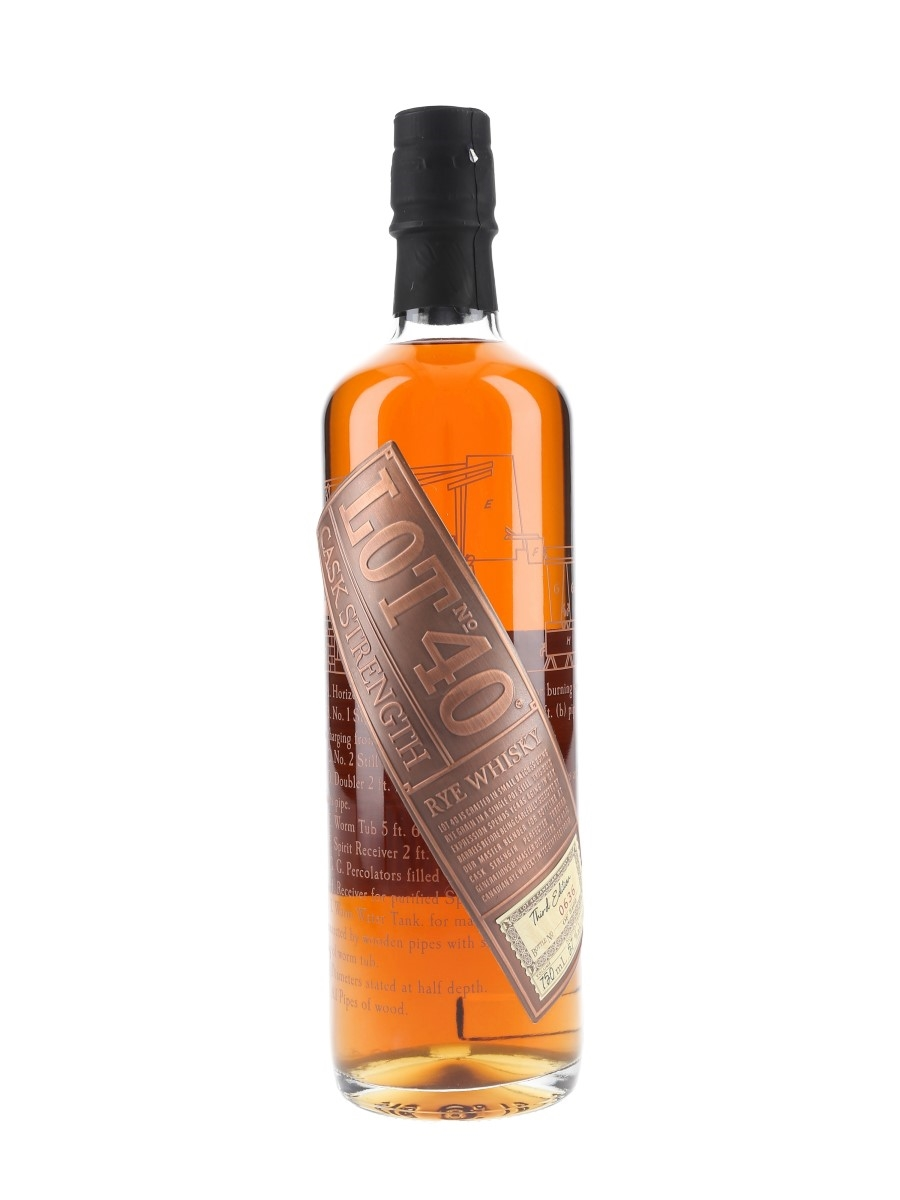 Lot No.40 Canadian Rye Whisky Third Edition Corby Distilleries Limited 75cl / 57%