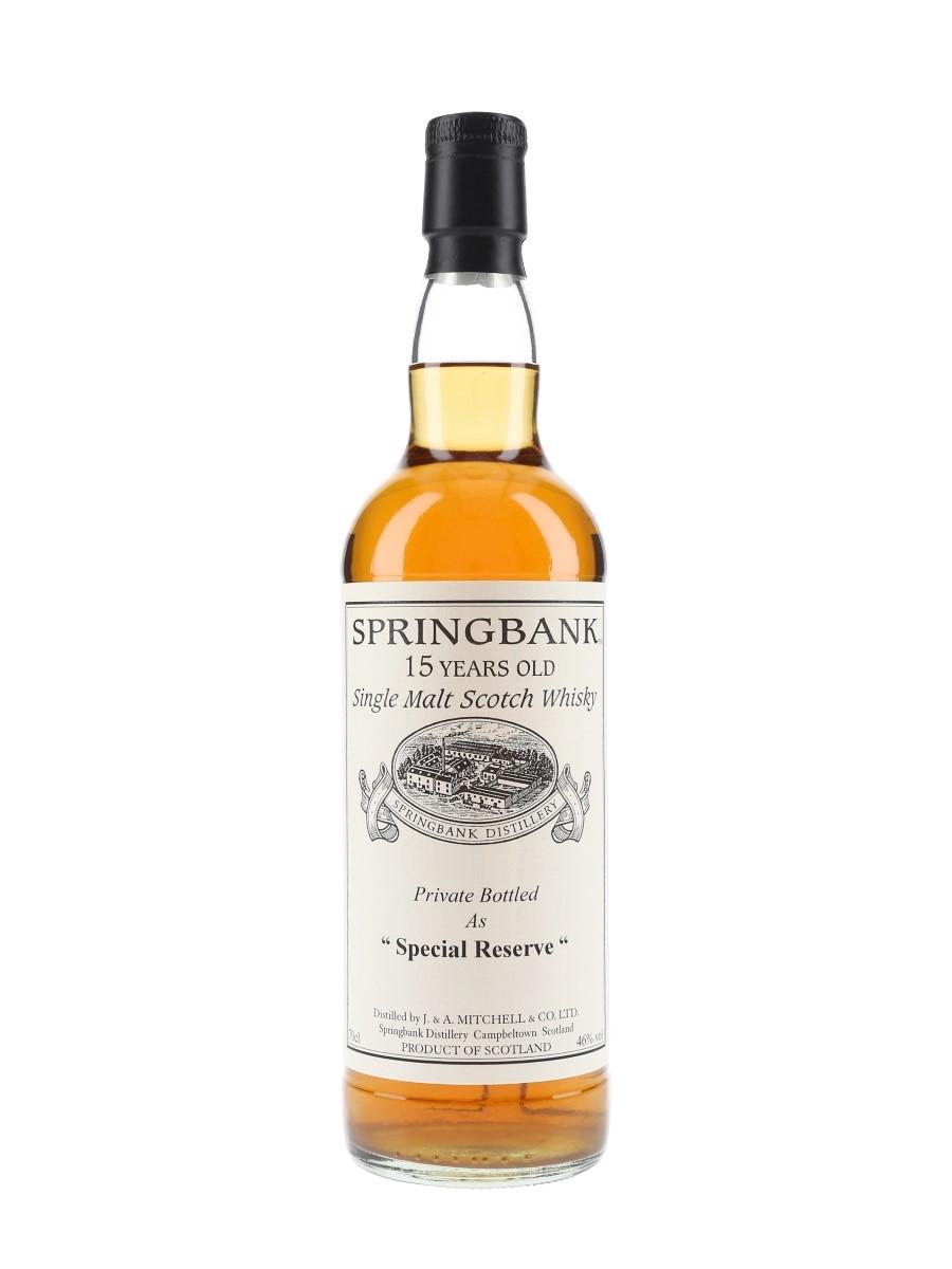 Springbank 1996 15 Year Old Special Reserve Cask 477 Private Cask Bottling 70cl / 46%
