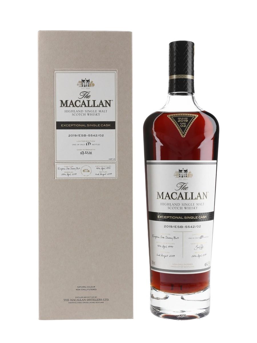 Macallan 1997 Exceptional Single Cask 02 2019 Release 70cl / 57.6%