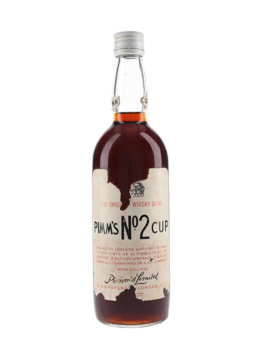 Pimm's No.2 Cup Whisky Sling Bottled 1960s 75cl / 34%