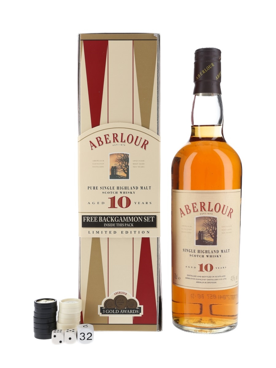Aberlour 10 Year Old Backgammon Set Bottled 1990s 70cl / 40%